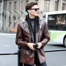 russian winter leather jackets men faux fur coats men s leather jacket casual motorcycle leather jacket thicken overcoat for men in faux leather coats from