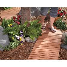 create a wooden path through your yard and garden