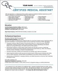 Samples Of Medical Assistant Resume Mesmerizing Resume For Medical Assistant Inspirational Healthcare Certifications