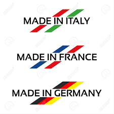 Italian Logos Vector Set Logos Made In Italy Made In France And Made In Germany