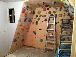 home rock climbing wall design