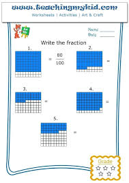 Write The Fraction Archives Teaching My Kid Math Printable ...