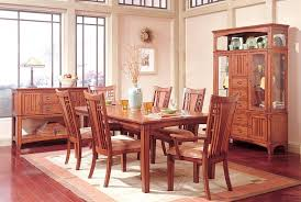 picture of standard furniture mission hills dining room set featuring curio china cabinet display dining table 6 chairs st 17421 set1 cal dining