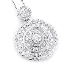las 18k gold designer diamond circle pendant 2 75ct main image