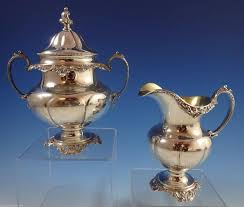 grande baroque wallace sterling silver tea set stunning 4 piece set hollowware in excellent condition