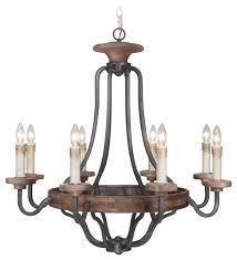jeremiah lighting ashwood 8 light chandelier black whiskey barrel