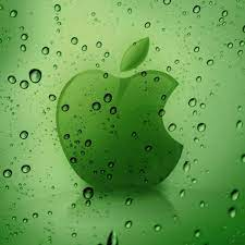 Apple Logo Behind Water Drops Retina ...