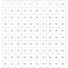 Magnetic 100 Number Grid Chart