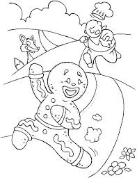 Gingerbread Candy Coloring Pages Gingerbread House Coloring Sheet