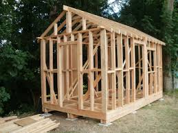 garden room office. rafters all on and framework completed. garden room office
