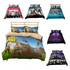 fabrics printing 3d duvet cover game fortnite polyester bedding sets soft battle royale printed bed linens bedroom 6 styles bedding cloth with