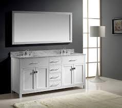 Virtu USA MD 2072 WMSQ WH Caroline 72 Inch Bathroom Vanity with