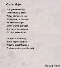 canis major poem by robert frost poem hunter