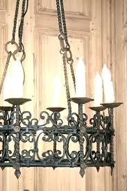 style chandelier chandeliers iron wrought hacienda spanish crystal cha