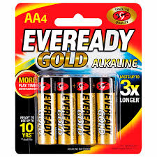 Eveready Led Lights Catalogue Gold Gold Batteries Aa Pack Of 4