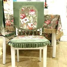 Dining Room Chair Back Covers No Sew Chair Back Cover How To Make