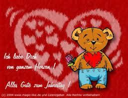 Ich Liebe Dich Von Ganzem Herzen Alles Gute Zum Jahrestag