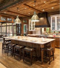 rustic kitchens with islands. Inspiring Kitchen Layouts With Island Seating Rustic Kitchens Islands