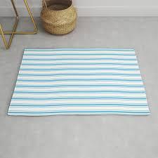 oktoberfest bavarian blue and white large mattress ticking stripes rug