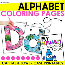 That the banana is yellow, and the watermelon is green. Alphabet Coloring Pages Capital And Lower Case By Just Reed Tpt