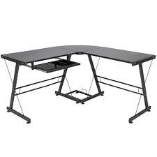 l shape computer desk pc glass laptop table workstation corner shaped office f8b22652 fd08 4046