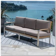 wicker and polyester convertible outdoor sofa chaise lounger