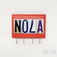 NOLA License Plate Key Holder – Home Malone