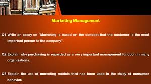Essay On Marketing Management This Presentation Uses A Free Template Provided By Fppt Com