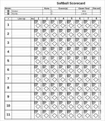 Softball Score Sheets - Koto.npand.co