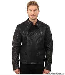 kenneth cole sportswear clothing coats outerwear mens kenneth cole sportswear designer moto sqz1lrxm newness jacket steel raw cross efmnruy567