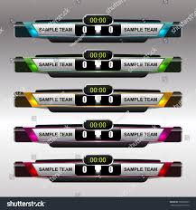 Scoreboard Template Football Soccer Scoreboard Template Vector Illustration Stock Photo 6