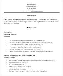 Sample Resume High School Student