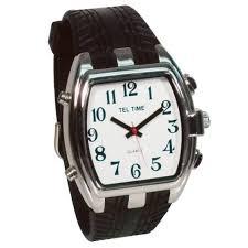 tel time mens low vision talking watch white face watches and faces tel time mens low vision talking watch white face talking watches maxiaids