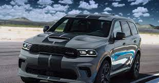 A Car Parked In A Parking Lot 2021 Dodge Durango Srt Hellcat Dodge Durango Durango Hellcat Dodge