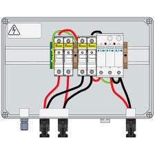 pv combiner box 1000vdc 30a ip66 2str t1 2 15a fuse connector