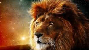 preview wallpaper lion face mane king of beasts abstraction