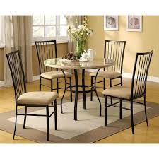 white 5 piece dining room set round 5 piece dining room set with white faux marble top table and 4 chairs whitesburg cottage white 5 piece round dining room