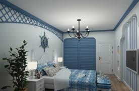 The Mediterranean Style Bedroom Interior Design Rendering