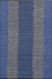 blue ikat hand woven kilim dhurrie