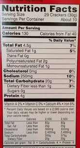 cheez it reduced fat original sunshine 11 5 oz intended for nutrition label for cheez