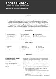 Hr Resume Templates Best HR CV Examples And Template