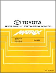 2005 toyota corolla matrix wiring diagram manual original 2003 2008 toyota matrix body collision repair shop manual original
