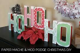 Mod Podge Christmas Decor Tutorial Craft momspark.net