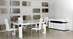 white dining table set. Modern White Dining Room Set Interior Design Table A