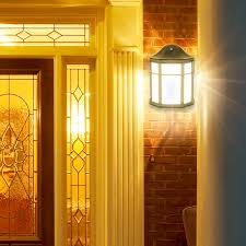 decorative outdoor led wall light sconce with dusk to dawn sensor 1200 lumens