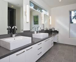white bathroom lighting. Bathroom Lighting Sconce Interior Decoration Ideas Fabulousign Using Silver Single Hole Faucets And Rectangular White Sinks R