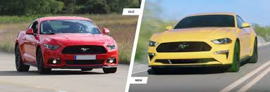 2018 ford uk. simple ford the old mustang left features a cleaner simpler design than the new car  right in 2018 ford uk