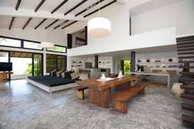 polished concrete floor in house. Download Modern Beach House Interior With Polished Concrete Floor In Ahigo.net Home Inspiration