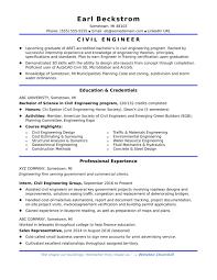 Job Applications Sample Sample Resume For An Entry Level Civil Engineer Letters Job