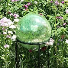 quick view garden gazing globes large le glass globe light green 6